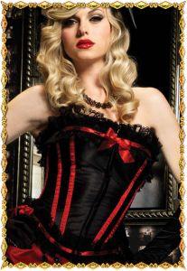 Сексуальный черный корсет Скарлетт с кружевами